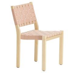 Chair 611 in Birch and Natural/Red Linen by Alvar Aalto & Artek