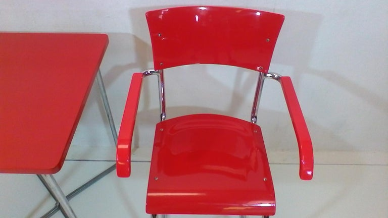 Chair and Table by Robert Slezák, 1930-1940 In Good Condition For Sale In Barcelona, ES