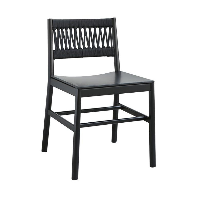 Chair Art, 0020-LE in Beechwood Painted and Wood Seat by Emilio Nanni For Sale 5