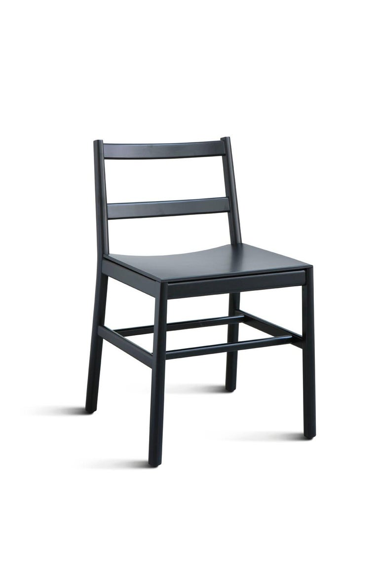 Chair Art, 0020-LE in Beechwood Painted and Wood Seat by Emilio Nanni For Sale 11