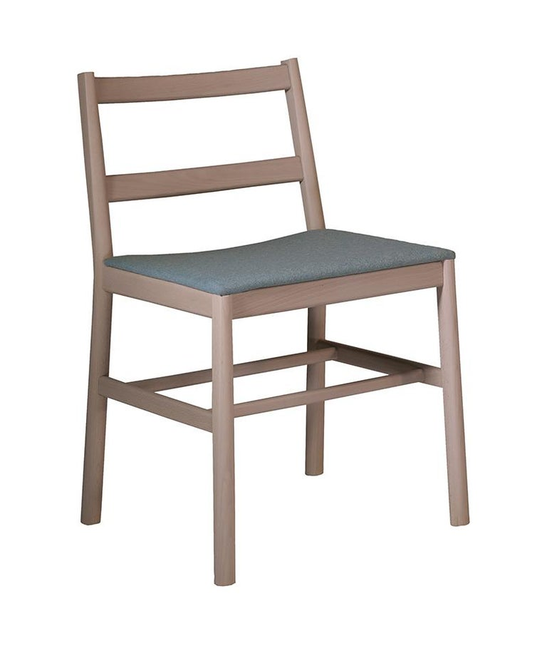 Modern Chair Art, 0020-LE in Beechwood Painted and Wood Seat by Emilio Nanni For Sale