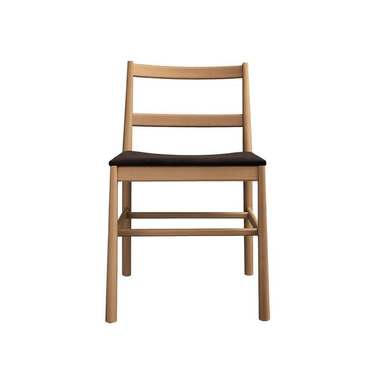 Italian Chair Art, 0020-LE in Beechwood Painted and Wood Seat by Emilio Nanni For Sale