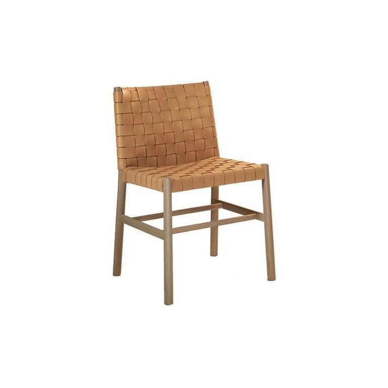 Chair Art, 0020-LE in Beechwood Painted and Wood Seat by Emilio Nanni For Sale 3