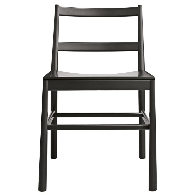 Chair Art, 0020-LE in Beechwood Painted and Wood Seat by Emilio Nanni For Sale