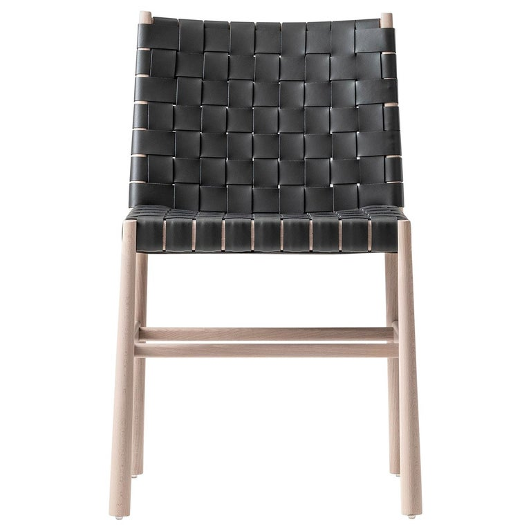 Chair Art, 0023-CU Julie Beechwood Painted and Thick-Leather Different Colors For Sale