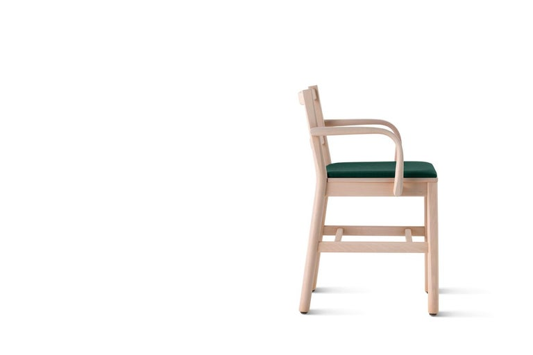Modern Chair Art, 0024-IN-AR in Beechwood Natural and Color Rope Back by Emilio Nanni For Sale