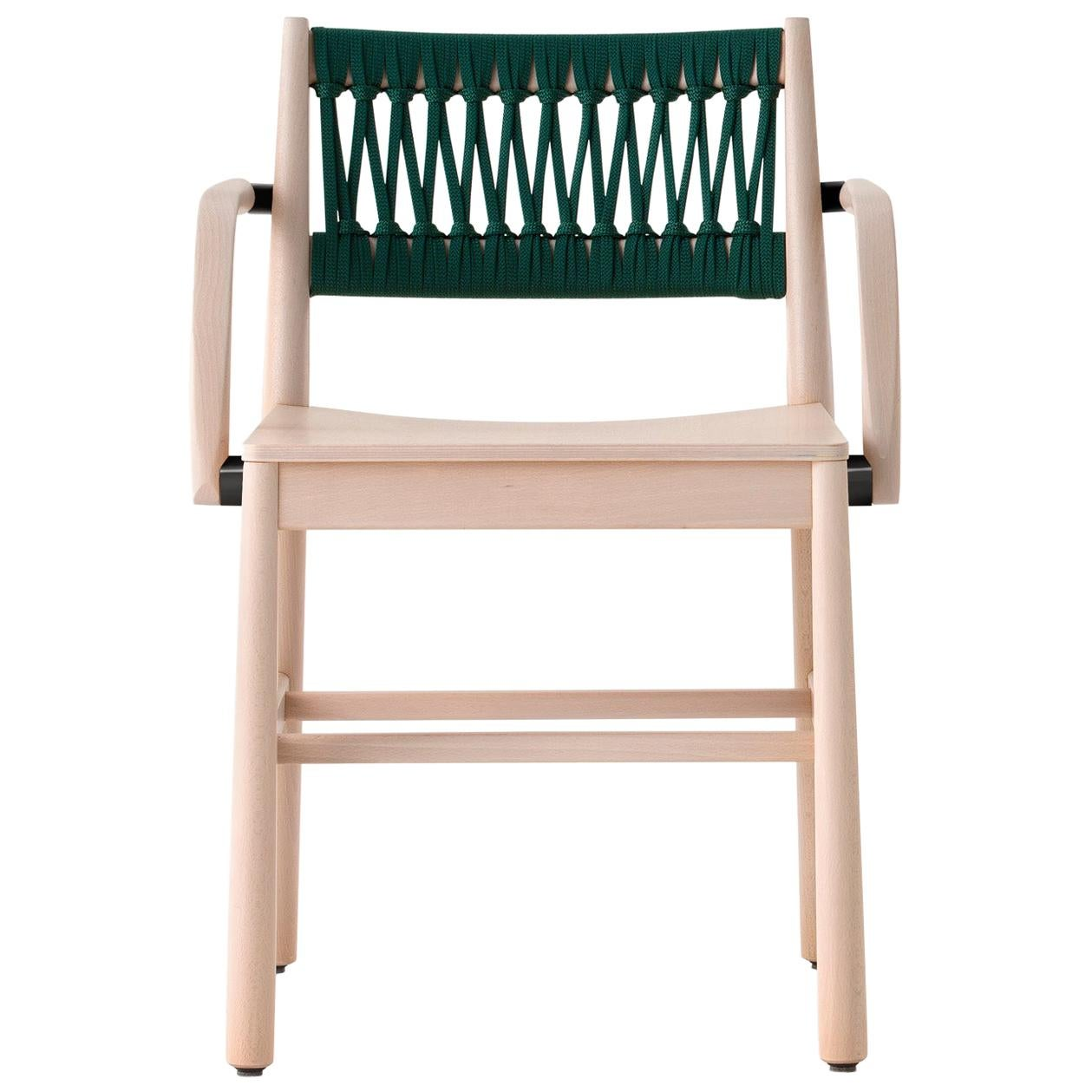 Chair Art, 0024-IN-AR in Beechwood Natural and Color Rope Back by Emilio Nanni