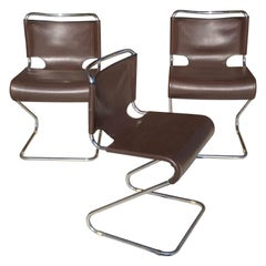 Chair by Pascal Mourgue, Édition Steiner, Model Biscia, Brown Color, France 1970