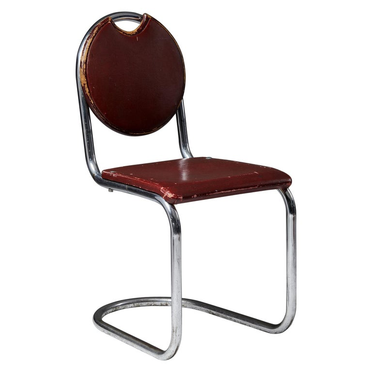 Chair Designed by Sven Markelius for Ds-Staal, Sweden, 1930's For Sale