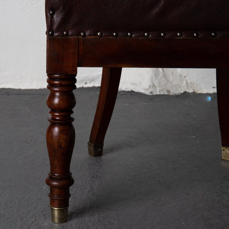 Chair Desk Swedish Mahogany Brown Sweden For Sale 5
