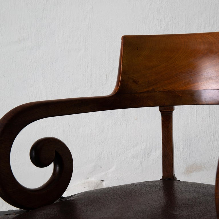 Chair Desk Swedish Mahogany Brown Sweden For Sale 7