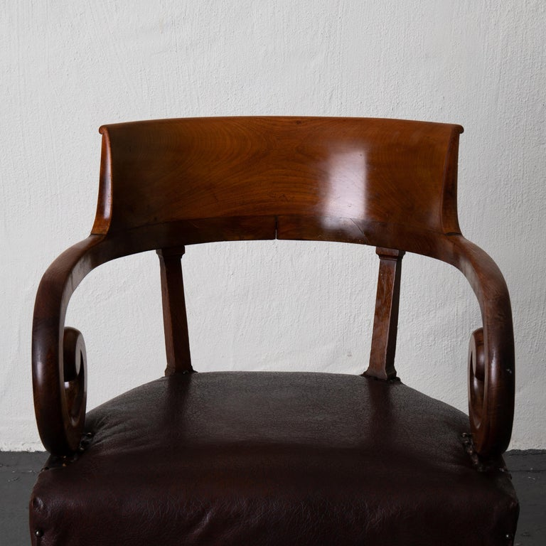 Chair Desk Swedish Mahogany Brown Sweden For Sale 3