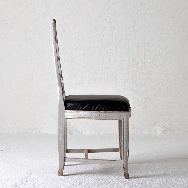 Chair Gustavian Swedish White Black Sweden For Sale 1