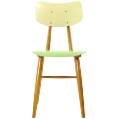 Chair in Green and Cream by TON, Czechoslovakia, 1960s