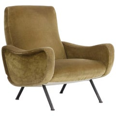 """Chair """"Lady"""" Covered with Green Velvet"""