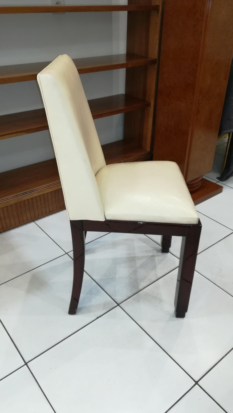 Chair, Leather, circa 1930 In Good Condition For Sale In Saint-Ouen, FR