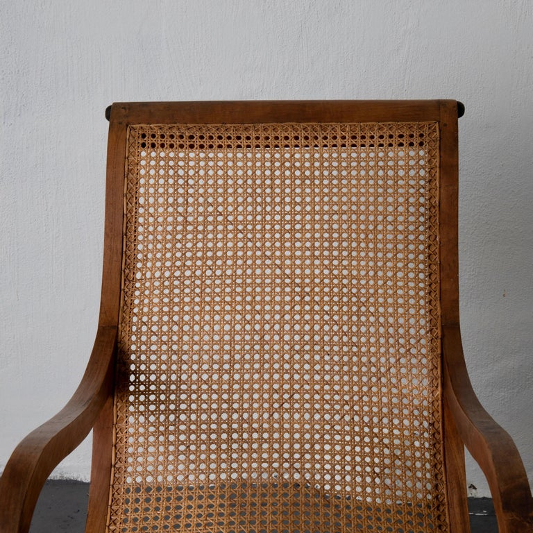 Chair Lounge Swedish 20th Century Wood Rattan, Sweden For Sale 6