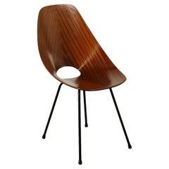 Chair Medea Vittorio Nobili Tagliabue Bentwood Metal Italy 1950s 60s