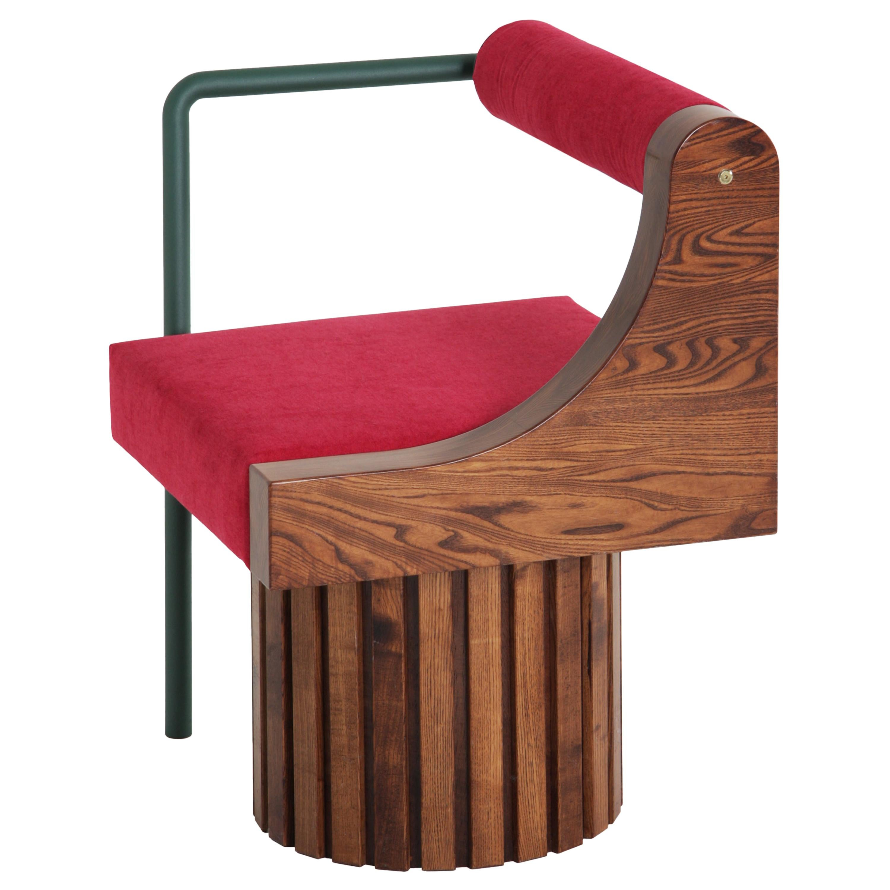 """Chair """"Normative Collection"""" Made of High Quality Wood and Steel Powder-Coated"""