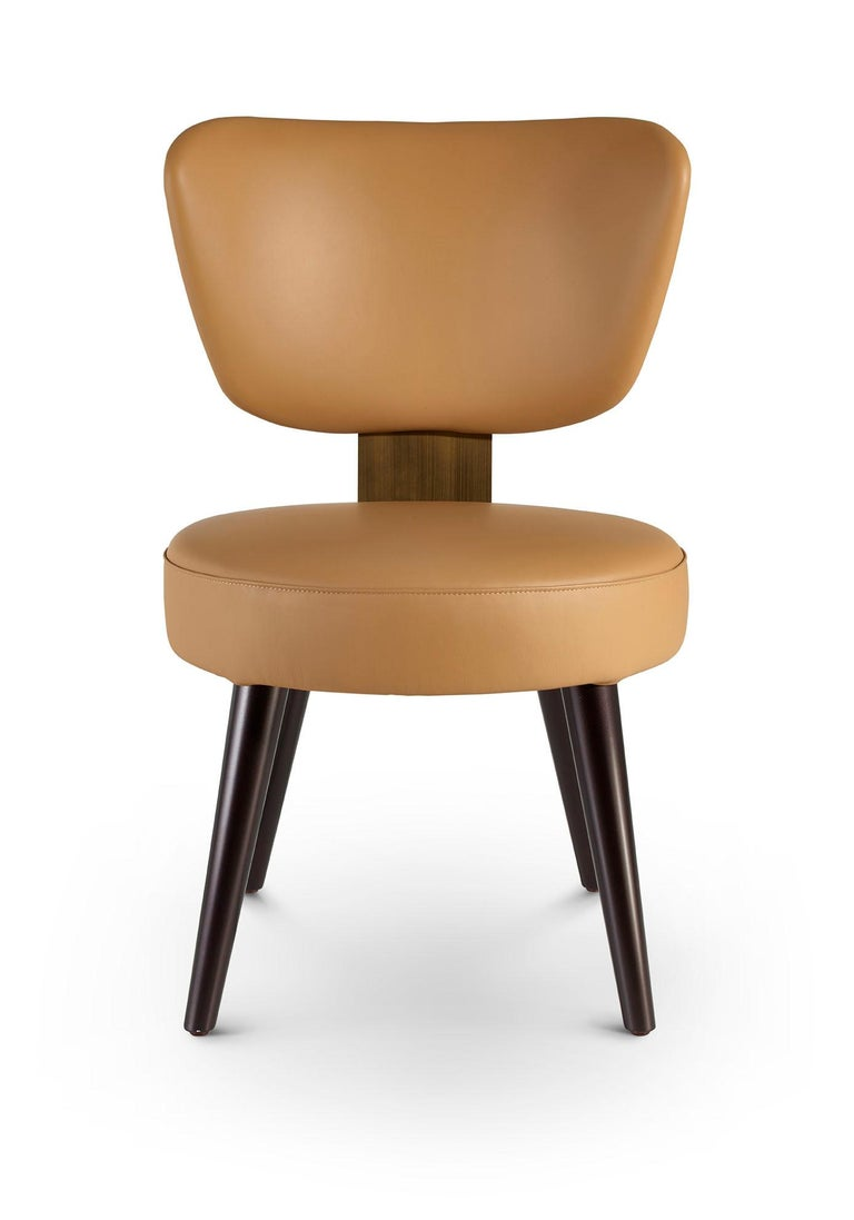 Italian Chair Plywood Solid Timber Distressed Finish Lacquered Legs Uilting on Back For Sale