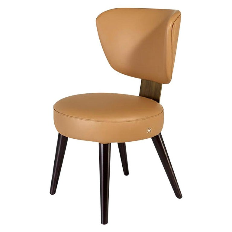 Chair Plywood Solid Timber Distressed Finish Lacquered Legs Uilting on Back For Sale