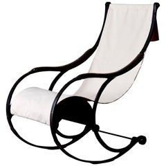 Chair Rocking English 19th Century Black White England