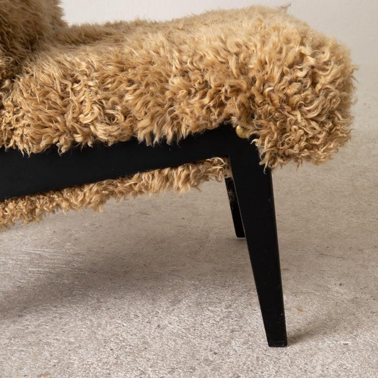 Chair Swedish Nordiska Kompaniet 20th Century Fur Beige, Sweden For Sale 4