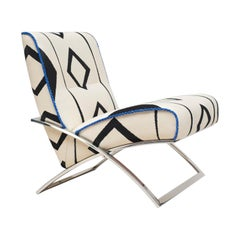 GHYCZY Chair Wave GP03, Stainless Steel Gloss Frame, Cobalt Blue Details