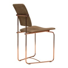 GHYCZY Chair Jodie S02, Copper Gloss, Fabric O/02 'Q5'