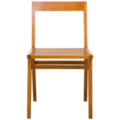 Chair with Slatted Seat in Ivory Wood by Joaquim Tenreiro, 1950s