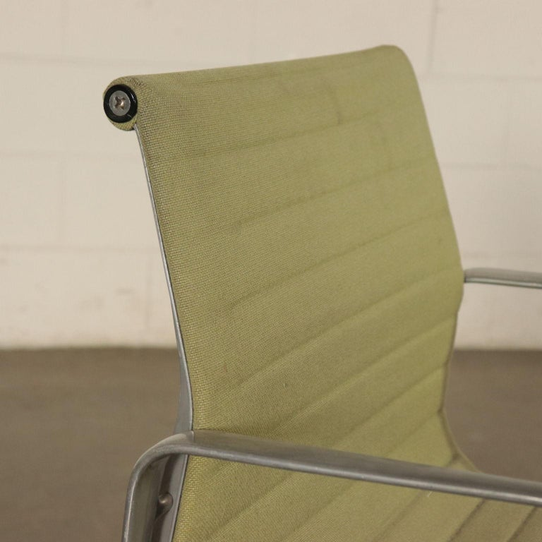 North American Chairs, Aluminum and Fabric, 1970s Charls & Ray Eames, Herman Miller For Sale