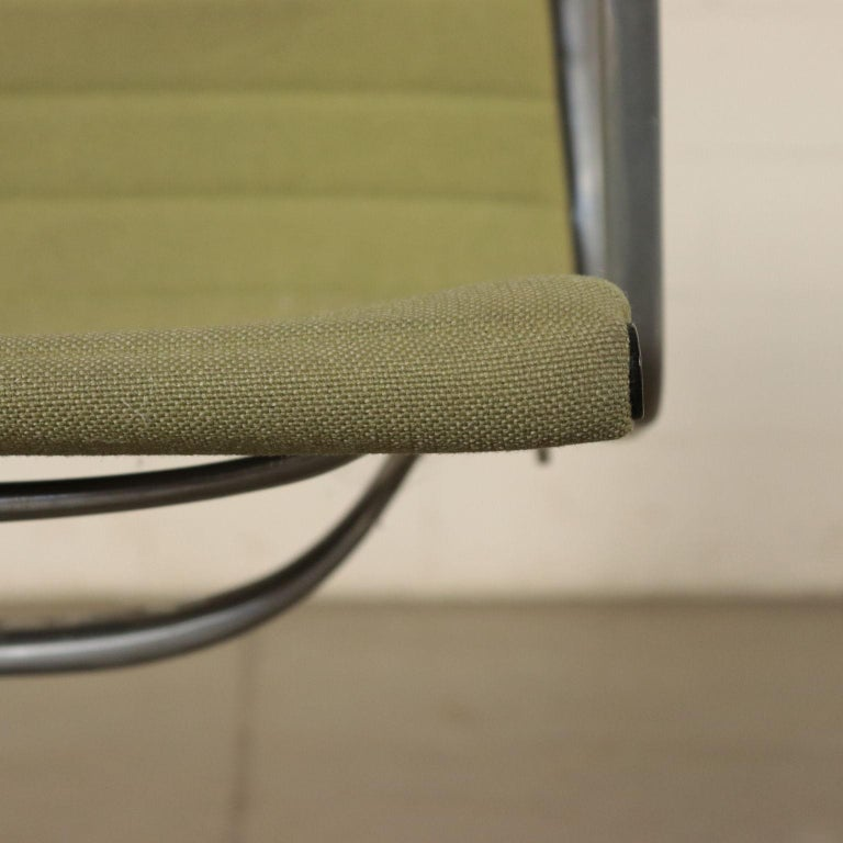 Chairs, Aluminum and Fabric, 1970s Charls & Ray Eames, Herman Miller In Good Condition For Sale In Milano, IT