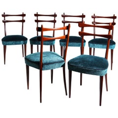 Chairs, Attributed to Vittorio Dassi, Italy, 1950s