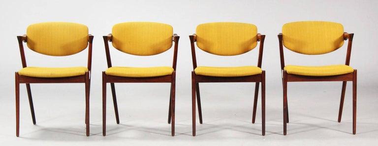 Hardwood Chairs by Kai Kristiansen Model 42