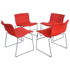 Chairs by Massimo & Lella Vignelli for Knoll, 1980s, Set of Four