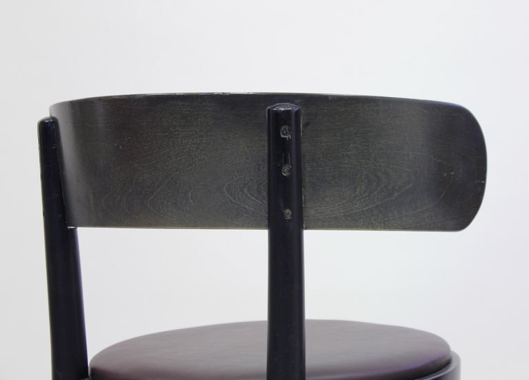 Chairs by Werner West for Wilhelm Schauman Ltd, circa 1940s, Set of 6 For Sale 6