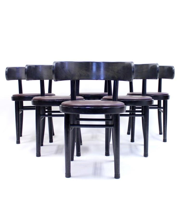 Finnish Chairs by Werner West for Wilhelm Schauman Ltd, circa 1940s, Set of 6 For Sale