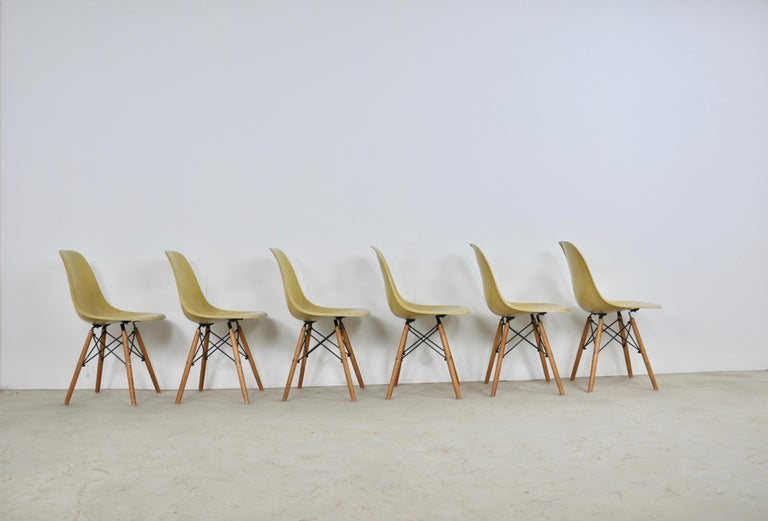 Central American Chairs DSW by Charles & Ray Eames for Herman Miller, 1970s