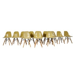 Chairs Dsw by Charles & Ray Eames for Herman Miller 1970s Set of 12