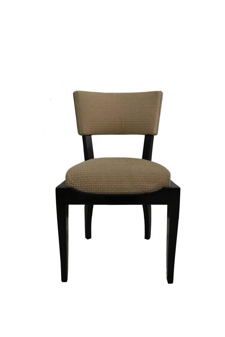 French Set of Six Art Deco Dining Chairs Ebony Macassar Wood