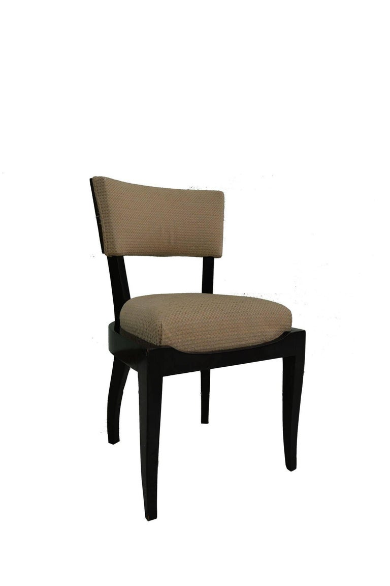 Set of Six Art Deco Dining Chairs Ebony Macassar Wood In Good Condition In Miami, FL