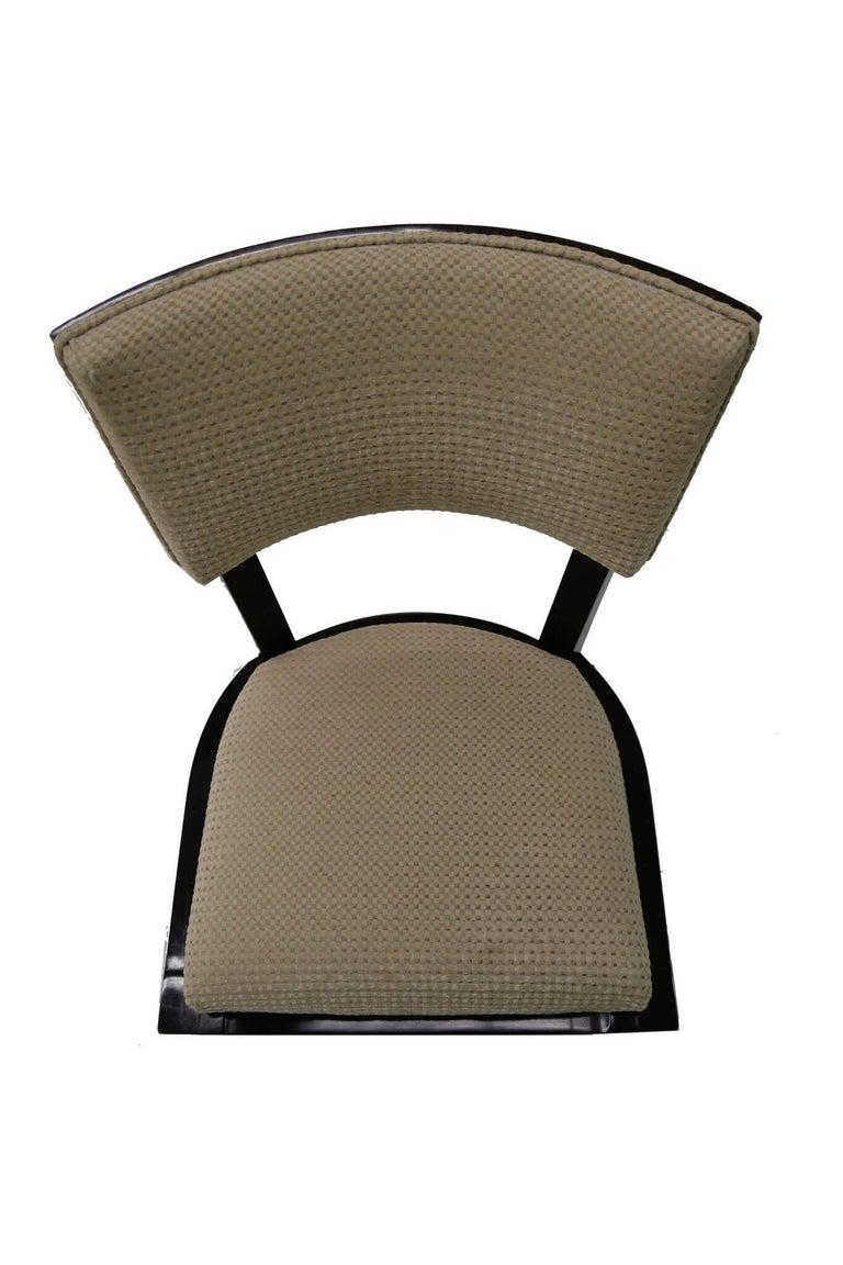 Mid-20th Century Set of Six Art Deco Dining Chairs Ebony Macassar Wood