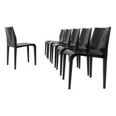 Chairs Laleggera by Riccardo Blumer in Black Lacquered, 1997