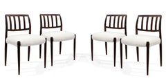 Chairs, Niels Otto Moller, Model 83, Scandinavian, 1960s, Limited Series, White