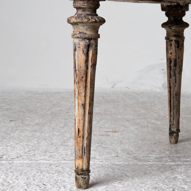Chairs Side Sweden Gustavian Period 1790-1810 Black Leather For Sale 5