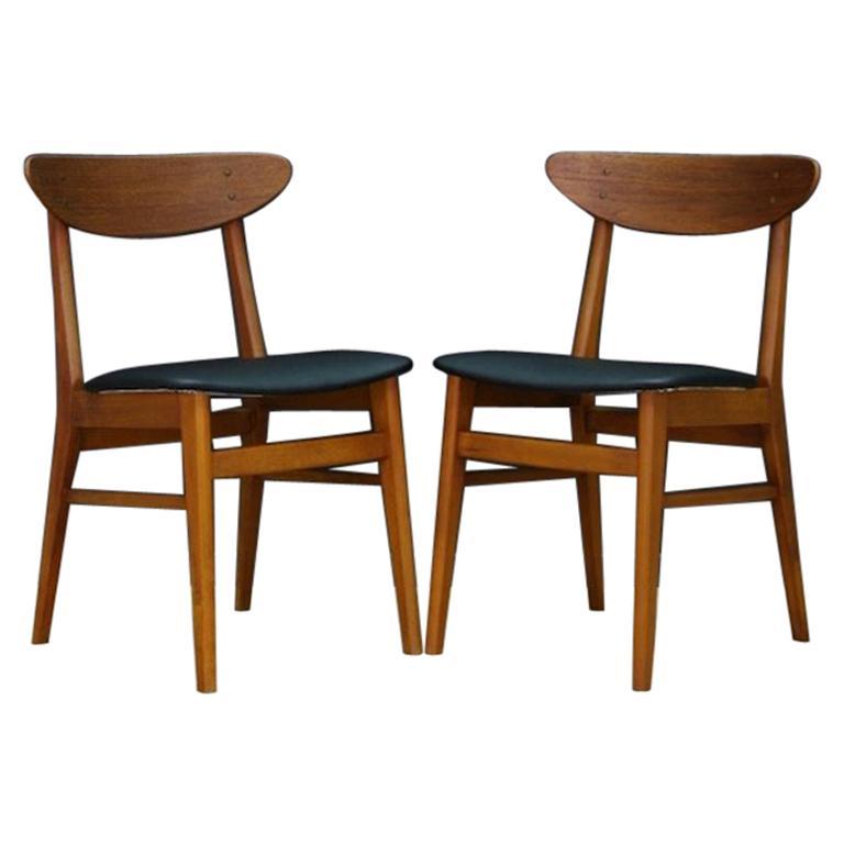 Chairs Teak Retro Danish Design Clic For