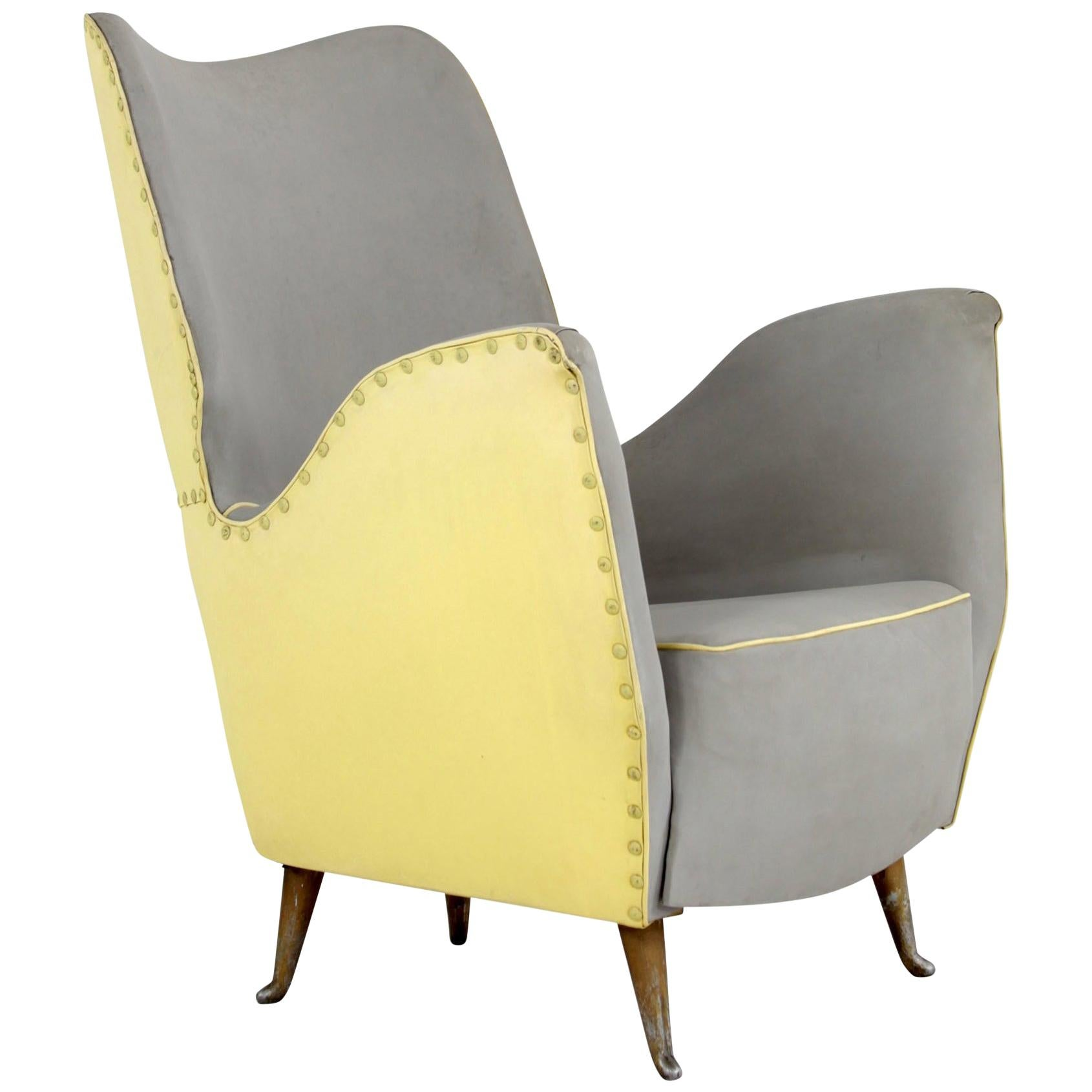 Chairs with Two-Tone Cover, Manufactured by I.S.A. Bergamo, 1950s