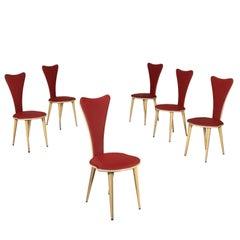 Chairs, Wood Aluminum Fabric, Italy, 1960s-1970s, Umberto Mascagni