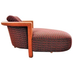 Chaise in Leather and Fabric, Pierantonio Bonacina, Italy, 1990s