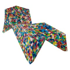 Chaise Longue Alessandro Mendini Outdoor Limited Edition Recycled Multicolour